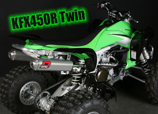 Kawasaki KFX450 DMC Twin Exhaust Performance Package